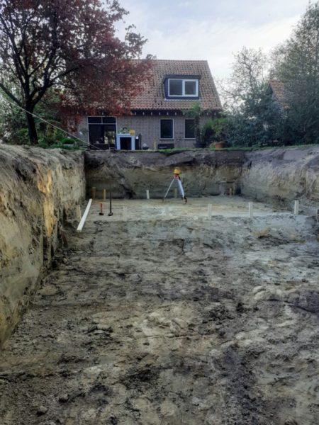 zwembad uitgraven